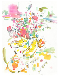 Title:「table2013」 Artist:「Nozomi」 Comment:「遊ぶ色あい、モチーフたち。」 ART-Meter