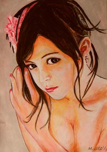 Title:「Girlish beauty (1/3)」 Artist:「ToshiJapon」 Comment:「手書きを取り込みました。」 ART-Meter