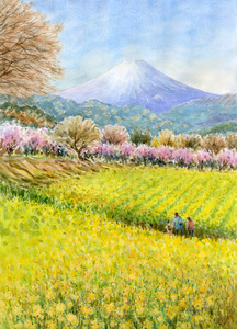 Title:「富士山と春景色」 Artist:「syoumei」 Comment:「神奈川県大井町付近」 ART-Meter